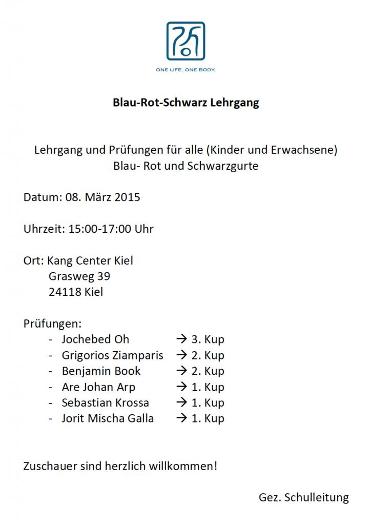 BlauRotSchwarzLehrgangMärz2015